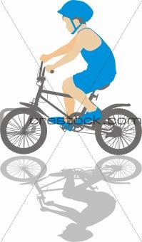 Small cyclist