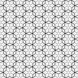 Seamless geometric pattern with hexagonal elements.