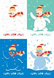 Happy New Year Snowman. Various versions of the color solutions.
