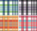 repeated plaid fabric pattern design