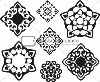 fractal floral symbol design