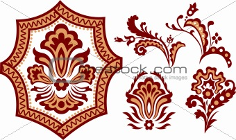 classical floral element pattern