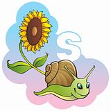 Children alphabet: letter S