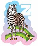 Children alphabet: letter Z