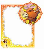 Chinese horoscope frame series: Bull