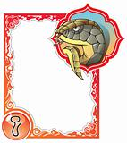 Chinese horoscope frame series: Snake