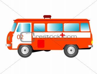 Car to ambulance