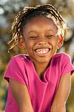 Laughing African American Child