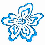 Flower blue, pictogram