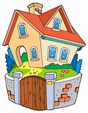 Cartoon family house