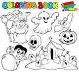 Coloring book with Halloween theme