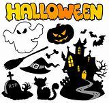 Set of Halloween silhouettes 2