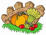 Thanksgiving motive with harvest