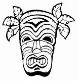 Wooden Hawaiian mask