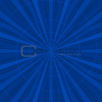 Background abstract radial, blue