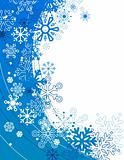 Background with contour snowflakes