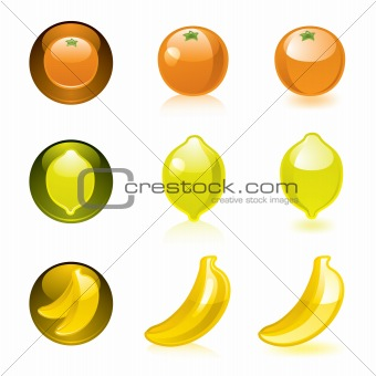 Orange Lemon Banana icons