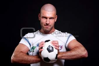 young and attractive football player
