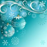Blue christmas frame(vector)