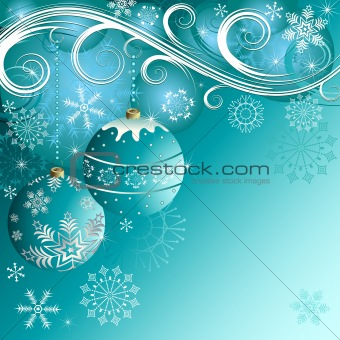 Blue christmas frame(vector)