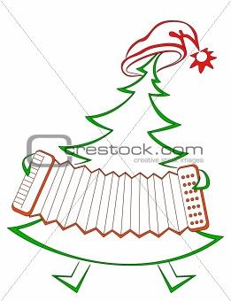 Fir-tree with accordion