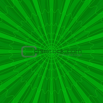 Background abstract radial, green