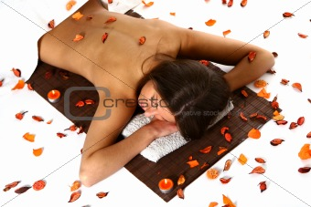 beautiful woman in relaxation athmospher