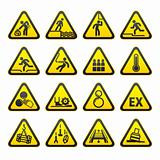 Set of Triangular Warning Hazard  Signs