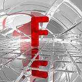 f in futuristic space