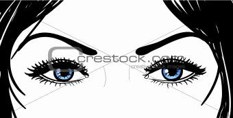 beautiful girl eyes
