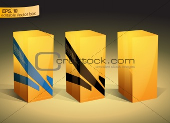 Yellow packaging box