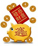 Chinese New Year Piggy Bank with Red Packet
