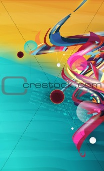 abstract forms, design elements, graffiti