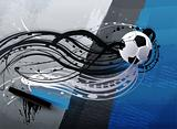 abstract soccer ball on a grunge background