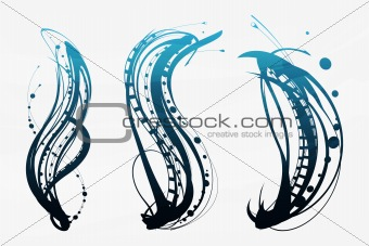 abstract decorative elements on a light background