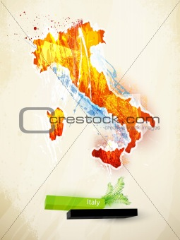 abstract illustration of the continent Italy