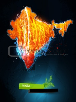 abstract illustration of the continent India