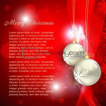 christmas ball background