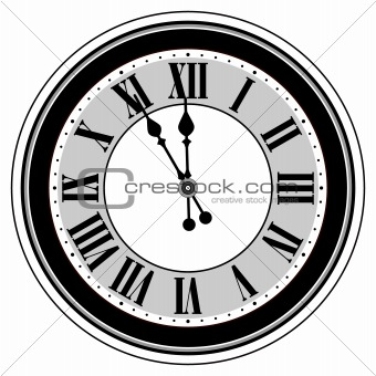 Antique clock isolated