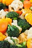 Broccoli cauliflower and carrots