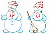 Snowballs, pair