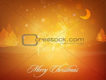 Christmas Deer whit background | greeting card design