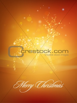Christmas Deer greeting card design