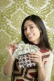 retro purse dollar woman vintage wallpaper