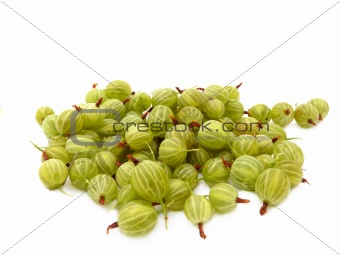 A delicious gooseberry isolated on a white background