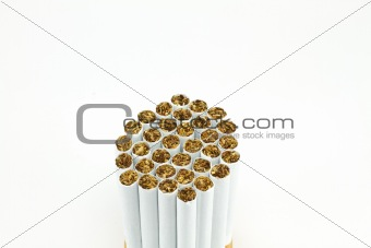 a bunch of cigarette isolated on white