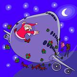 Santa Claus versus plane
