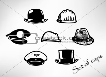 Black Hat Vector Silhouette