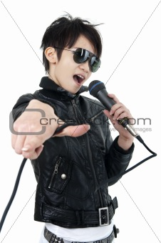 Rock singer
