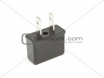 Power plug adapter isolated on white
